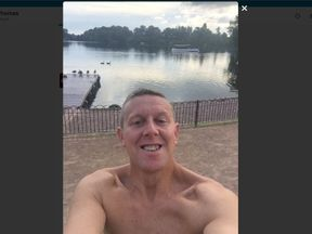 Nick Thomas in a selfie before a swim