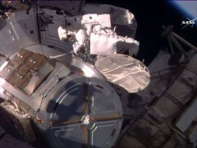 The spacewalk is a delicate operation