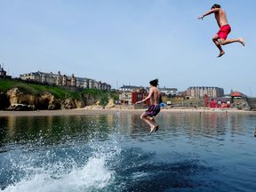 Jumping into water may appear enticing during hot weather, but you should never jump - the advice
