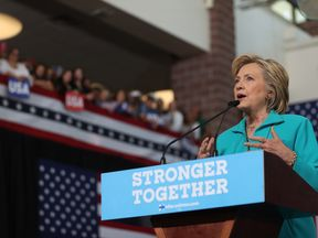 Democratic presidential nominee Hillary Clinton speaks during a campaign even in Reno, Nevada