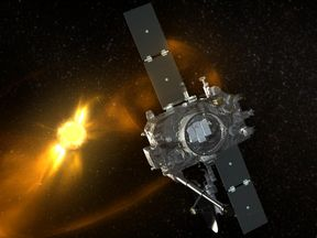 An artist's illustration of how Stereo-B looks in space. Pics: NASA