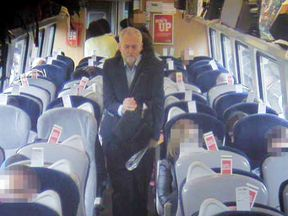 Handout CCTV footage of Jeremy Corbyn issued by Virgin Trains