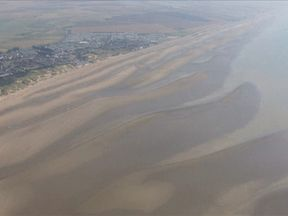 Camber Sands is said to have several sand bars which can be cut off when the tide starts to turn
