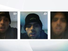 Chris Brown posted a series of videos to Instagram declaring his innocence after he was accused of pointing a gun at a woman