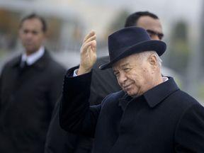 Uzbek President Islam Karimov seen in November