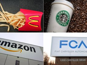 McDonald's, Starbucks, Amazon, Fiat Chrysler