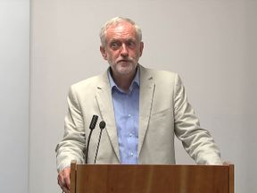 Corbyn angered by journalists' questions