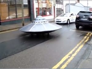 Low-Speed Pursuit As Police Chase Flying Saucer