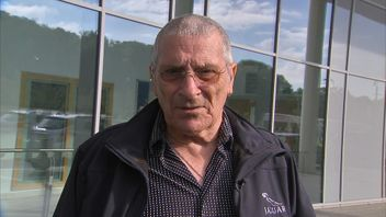 Jim Shaw, a biker who managed to avoid the collapse of a bridge over the M20 at 70mph, talks to Sky News