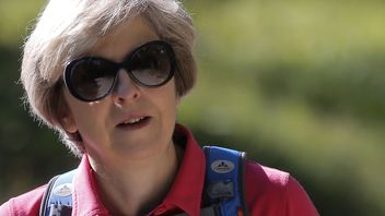 Theresa May on holiday in Switzerland with her husband Philip
