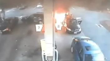 Gas station bursts into flames after old person reverses into pump