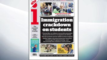 The i reports on a government crackdown on immigration affecting foreign students.