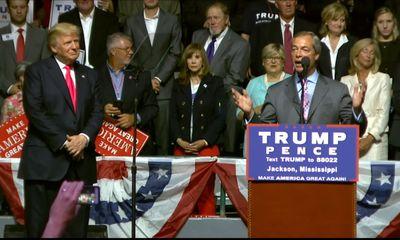 Hillary Clinton blasts Nigel Farage for Trump rally attack
