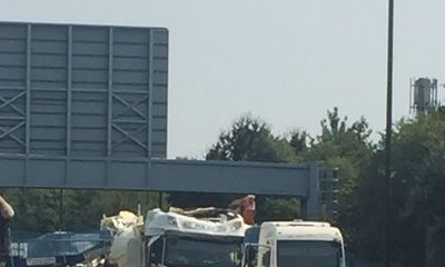 M20 re-opens with 50mph speed limit following bridge collapse