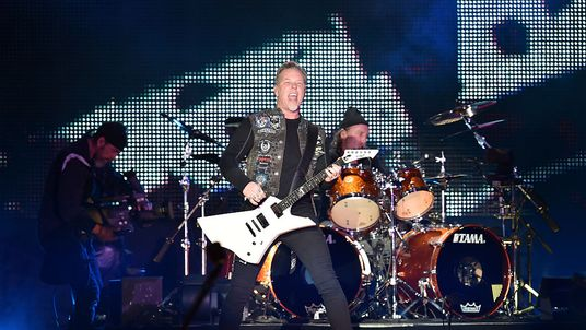 James Hetfield fronts the show for Metallica at a gig in San Francisco in February