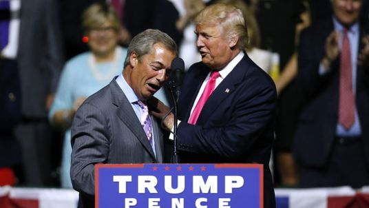 Nigel Farage offers debate tips to Trump