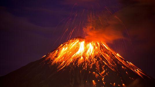 Huge volcanoes spat hot debris across the country (File pic)
