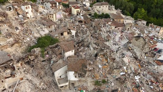 The town of Pescara del Tronto was virtually destroyed by the quake