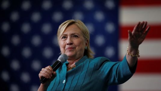 Democratic presidential candidate Hillary Clinton campaigns in Iowa