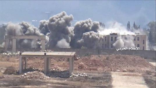 Bombing over Aleppo