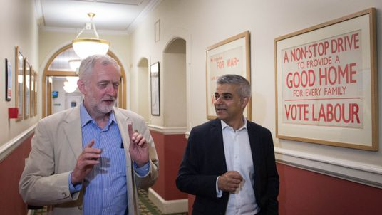 Sadiq Khan has given his public backing to Mr Corbyn's rival for the party leadership