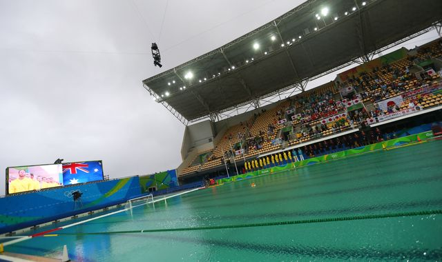 Rio's Olympic Swimming Pools Are Turning Grody Colors