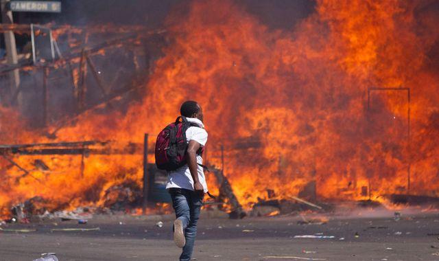 Anger As Violence Erupts At Anti-Mugabe Protest