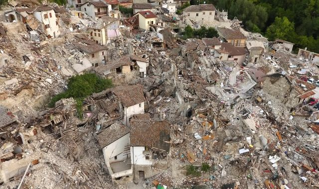 Italy Earthquake: Caught In An Aftershock In A Town Of Rubble