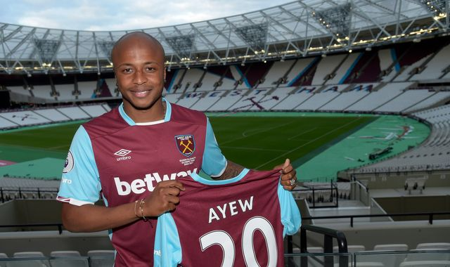 West Ham pay club record fee for Andre Ayew
