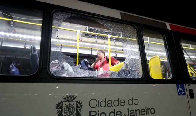 Olympics: Bus hit by gunfire, no one seriously hurt