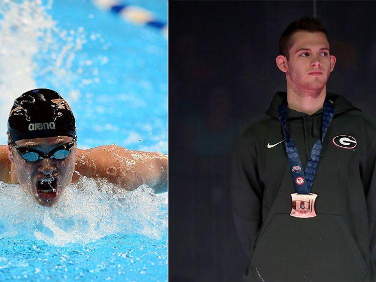 Swimmer jack off