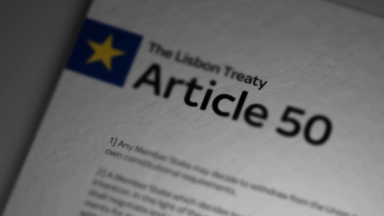 The Signing Of Article 50 Will Trigger The Brexit Process