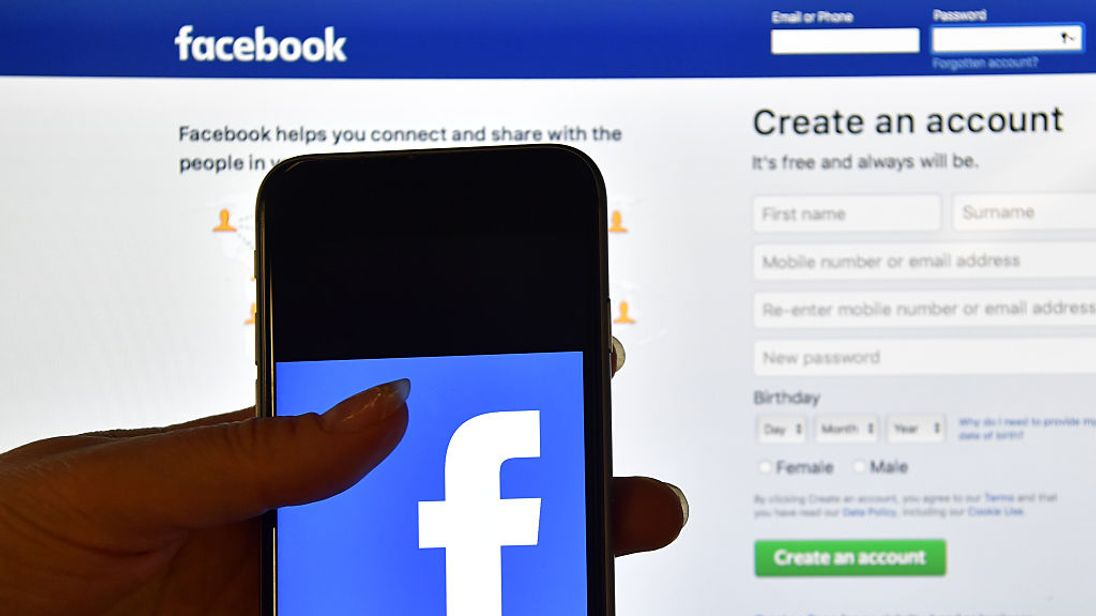 Facebook's login page