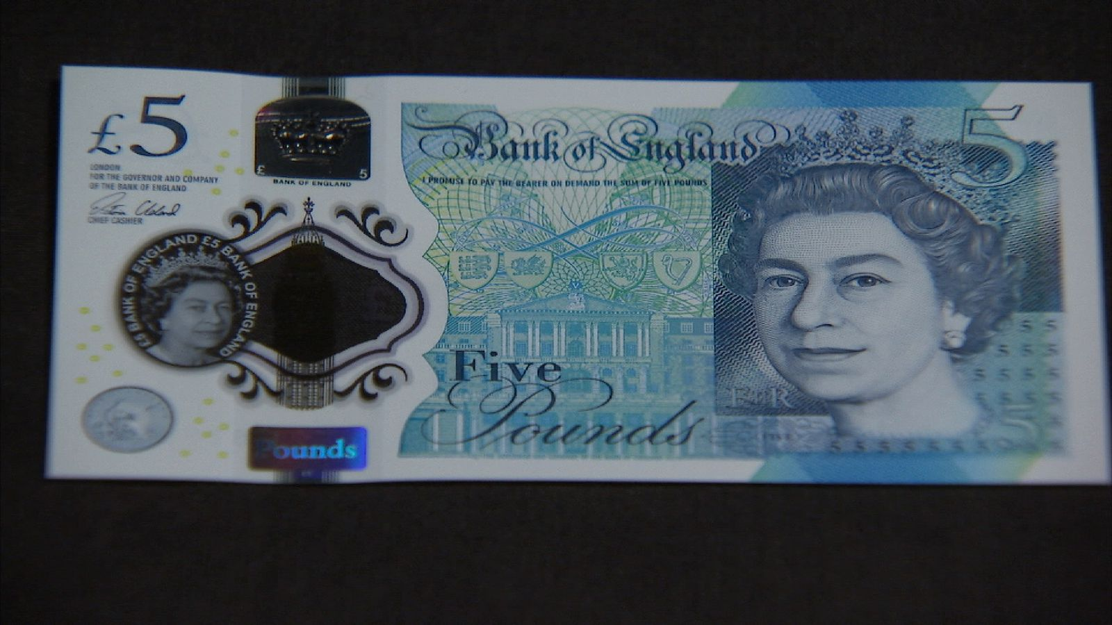 The new 5 pound note