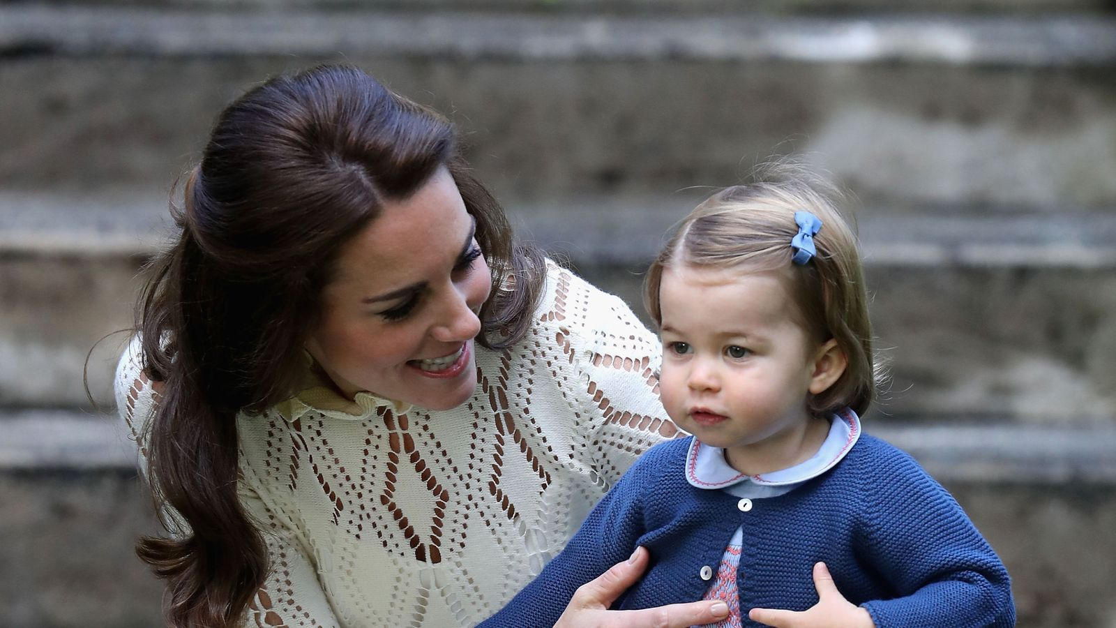 The Duchess of Cambridge with Princess Charlotte