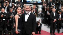 Mel Gibson and Rosalind Ross on the red carpet at Cannes earlier in 2016