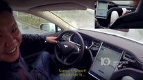 A hacking team remotely takes control of a Tesla's brakes