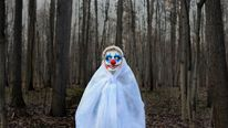 Clown in a forest