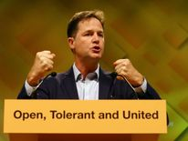 Nick Clegg delivers his first conference speech as the party's EU spokesman