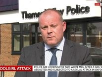 Head of major crime, Detective Superintendent Chris Ward talks to Sky News following a news conference appealing for information on an abducted and abused schoolgirl.