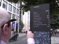 The device is helpful when the user wants to read a sign