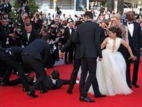 Sediuk also crawled under America Ferrera's dress during a premiere in Cannes