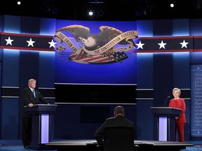 Donald Trump Hillary Clinton clash in the Presidential Debate at Hofstra University