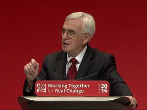 John McDonnell said a Labour government would repeal the Trade Union act