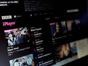 A screenshot of the BBC's iPlayer