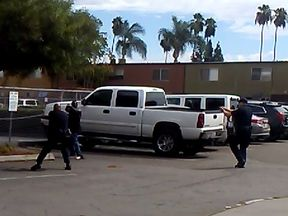 A still from a video being reviewed by police in the shooting of Alfred Olango in San Diego. Pic: El Cajon Police