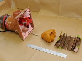 Police released an image of part of the projectile