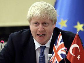The Foreign Secretary, Boris Johnson, during his visit to Turkey