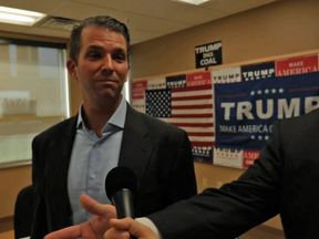 Donald Trump Jr was interviewed by Sky News