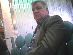 Sam Allardyce was talking to undercover journalists from the Daily Telegraph